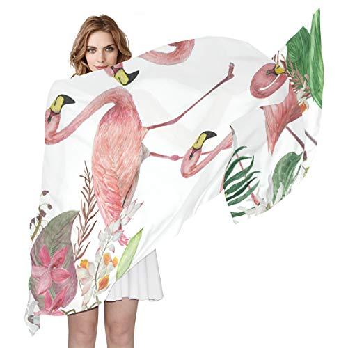 amingo-Vogel-Blumen, tropische Blätter, Seide, leicht, weich, lang, durchsichtig ()