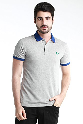 Polo T-shirt Maglia Uomo men Fred Perry Made in Italy Slim Fit special grigio blu V0040 - M
