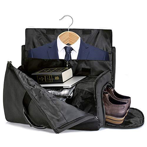 65effda96 SUVOM Suit Travel Bag Suit Bag Carrier Luggage Change to Travel Duffel Bag  for Men Women