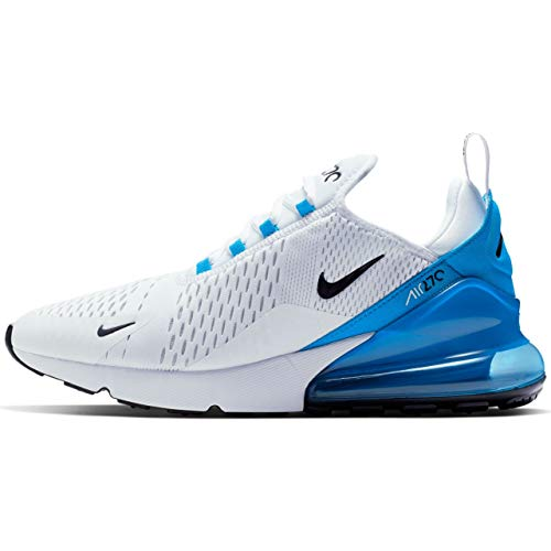 Nike Herren AIR MAX 270 Leichtathletikschuhe, Mehrfarbig (White/Black/Photo Blue/Pure Platinum 000), 43 EU (Nike Herren Schuhe Air)