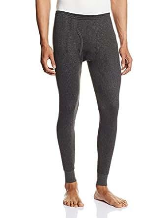 Hanes Men's Cotton Thermal Pants (8907163410559) (T110-031-PL ANTHRA MELANGE XL)