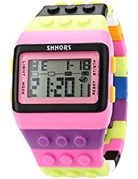 AMPM24 LED088 - Reloj Digital Unisex, Correa de Goma, Multicolor, LED, Deportivo
