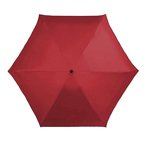 Ultra Mini Tasche Sonnenschirm Anti-UV Compact 5-teilig Tablette Leicht Wasserdicht Winddicht Reise Regenschirm Handbuch Frauen Handtasche Handtasche,Red
