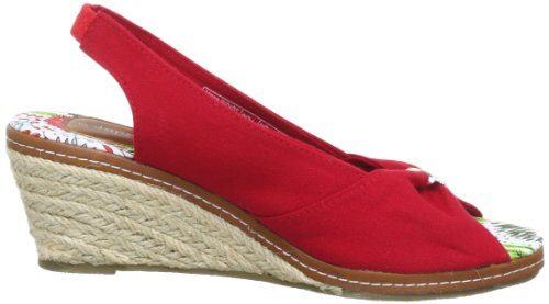 Jane Klain 283 637, Sandali con la zeppa donna Rosso (Rot (rot 593))