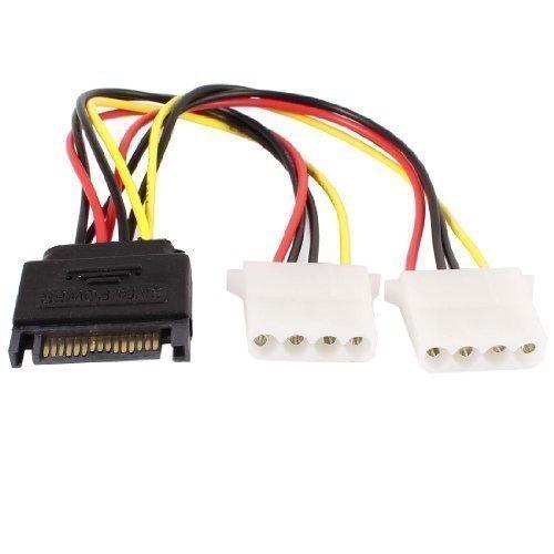 Dual SATA IDE 4 pin femmina a singolo 15 pin