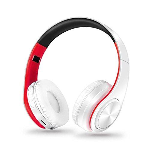 Y56 Kabellos Drahtloser Bluetooth Faltbarer Kopfhörer Stereokopfhörer Kopfhörer für iPhone Samsung (White)