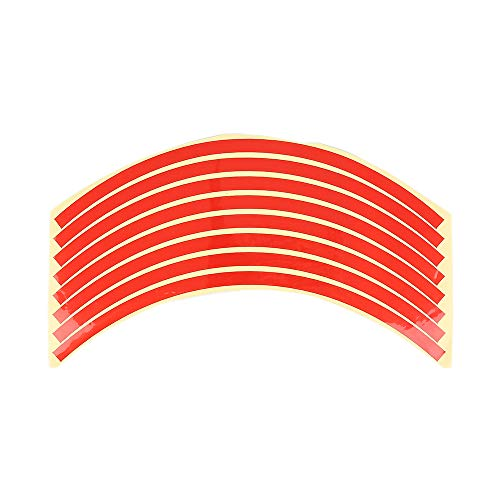 LINYANMY 8 unids llanta de la Rueda Raya Reflectante para 10~20 Pulgadas Rueda de la Motocicleta del Coche Etiqueta engomada reflexiva calcomanía