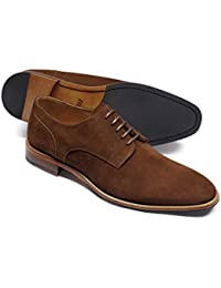 Brown Suede Derby Shoe by Charles Tyrwhitt