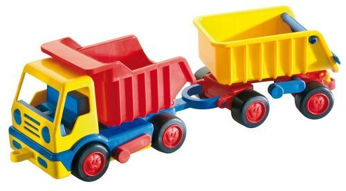 Wader Basics Dump Truck With Trailer by Wader Quality Toys (Trailer Truck Dump)