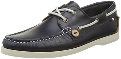Faguo Larch Leather, Scarpe da Barca Uomo, Blu (Navy), 44 EU