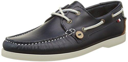 Faguo Larch Leather, Scarpe da Barca Uomo, Blu (Navy), 45 EU
