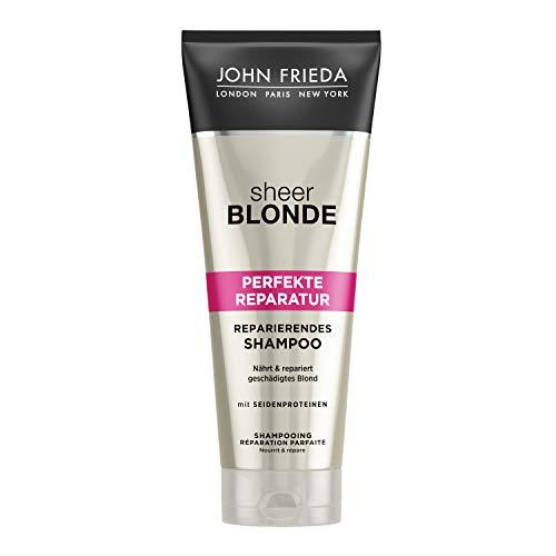 John Frieda Sheer Blonde Perfekte Reparatur Shampoo - 2er Pack (2x 250 ml) - nährt und repariert geschädigtes Blond - mit Seidenproteinen und Reismilch -