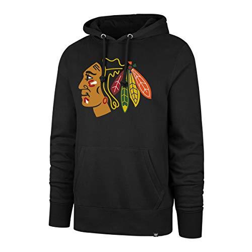 47 Brand Chicago Blackhawks Headline NHL Hoodie Sweatshirt Schwarz, L Blackhawk Pullover Hoodie