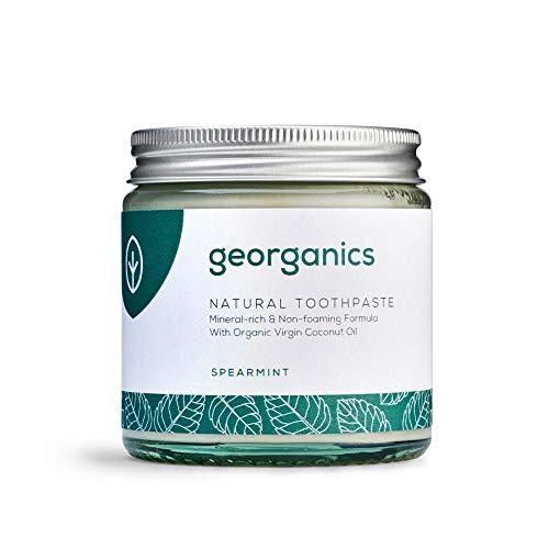 Georganics natürlich biologische Kokosölzahnpasta- grüne Minze 120 ml/Remineralizing Natural Organic Coconut Oil Toothpaste - Spearmint 120ml