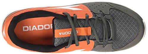 Diadora Hawk 7, Scarpe da Corsa Uomo Arancione (Arancio Vermiglio/Grigio Aciai)