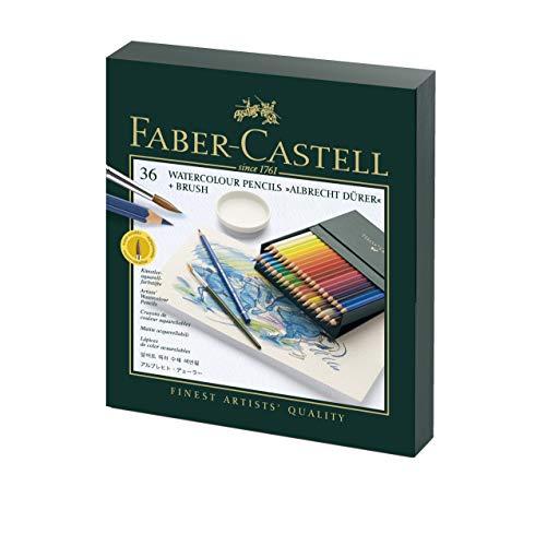 Faber-Castell 117538 - Estuche estudio con 36 ecolápices acuarelables,...