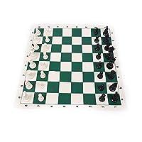الشطرنج , نوع محمولة لجميع الاغراض , 32 قطعة شطرنج بلاستيكية , لوح جلدي قابل للطي , مناسب لألعاب صانع القهوة وكبار,L