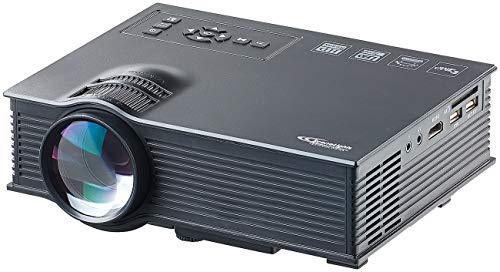 SceneLights Kompakt LED Beamer: LCD-LED-Beamer LB-8300.wl, SVGA, Miracast, DLNA & AirPlay, 800 x 480 (WLAN Beamer)