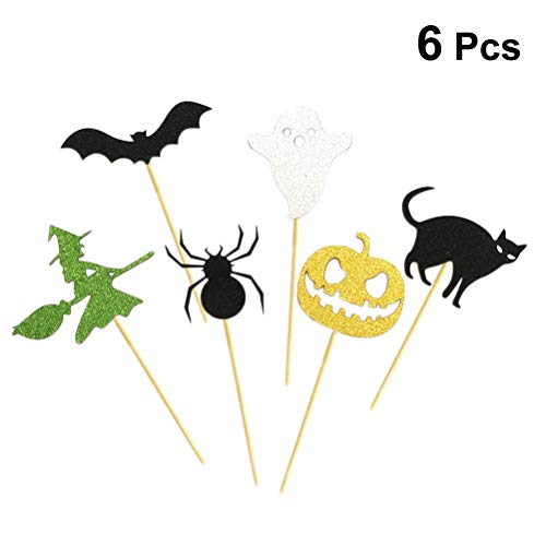 Healifty 6 Stück Halloween Cupcake Topper Picks Horrible Party Cake Decorating Zahnstocher