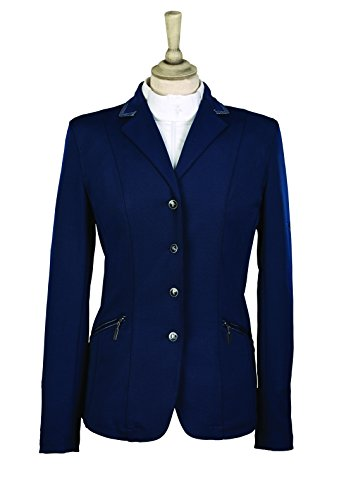 41cs3yaVl9L BEST BUY UK #1Caldene Competition Womens Cadence Stretch Jacket   Navy Blue, 38 Inch price Reviews uk