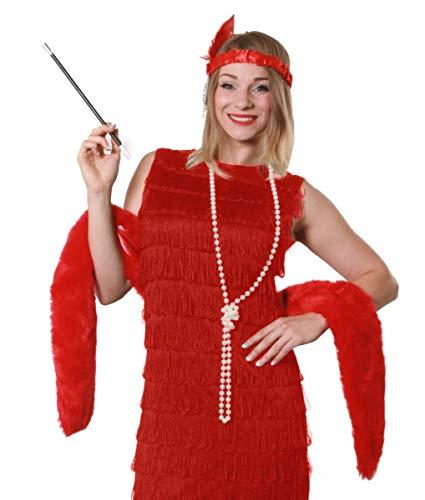 Flapper Fancy Kleid sofort Gatsby Kit Kunstfell