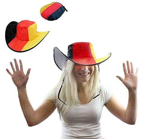 Unbekannt Deutschland Faltbare Mütze Fußball Cowboy Hut Gruppe Verein Fasching Karneval Fastnacht für - Kostüme Karneval Gruppen