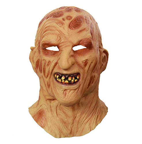 M&M Halloween Ghost Festival Latex Feuer Brennende Gesicht AAS Kopfbedeckung Terroristischen Gesicht Zombie Grimace Maske