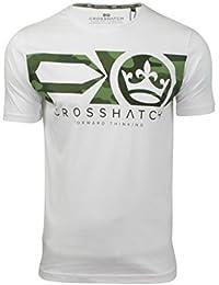 Crosshatch Mens Crew Neck T-Shirt Pleione' Camo Print