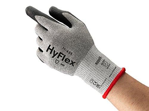 Ansell HyFlex 11-435 Gants de protection contre les coupures, protection mécanique, Noir, Taille 10 (Sachet de 12 paires)