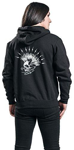 CBGB Mohawk Sweat à capuche zippé noir Noir