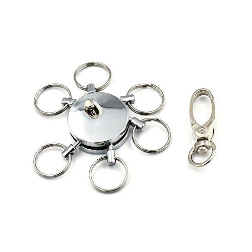 fujiyuan 1PCS Swivel Haken Multi Schlüsselanhänger Clip Karten Ringe abnehmbarer abnehmbarer Release elastischemschlüsselband Zubehör -