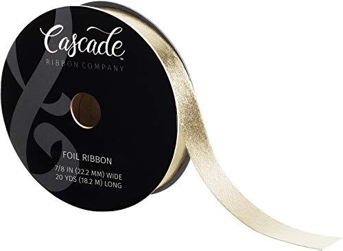 """Fair Isle Cascade Foil Ribbon .875"""" X20yd-Platinum"""