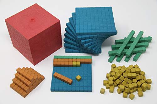Wissner aktiv lernen WissnerR39578.000 Dienes Grundset 141 Teile farbig, Mehrfarbig - Von Und Ganzen Zahlen Addieren Subtrahieren