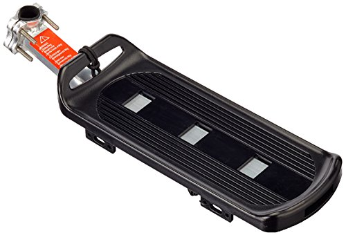 Fischer–Portaequipajes para bicicleta, color negro, ONE SIZE
