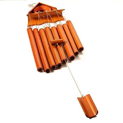 maaryee handgefertigt Wind Chimes Umweltfreundlich natur Bambus Wind Glocken für Indoor Outdoor Decor Weihnachten Geschenk