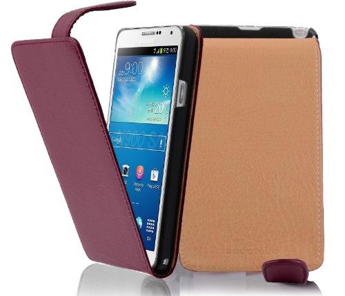 Cadorabo - Flip Style Hülle für Samsung Galaxy NOTE 3 (GT-N9005) - Case Cover Schutzhülle Etui Tasche in BORDEAUX-LILA