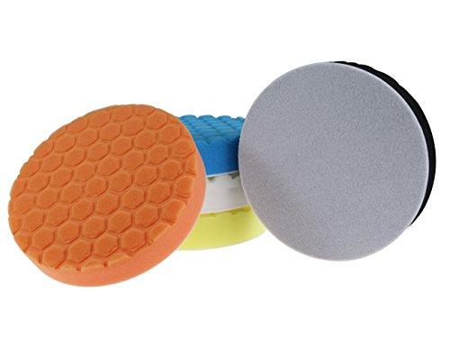 Tampon à polir hexagonal 6 pouces 150mm pour polisseuse de...