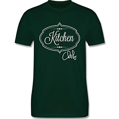 Küche - Kitchen Chef Küchenchef - Herren Premium T-Shirt Dunkelgrün