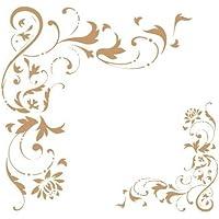 Stencil Deco Cenefa 027 Esquina Filigrana. Medidas aproximadas: Medida exterior del stencil: 20