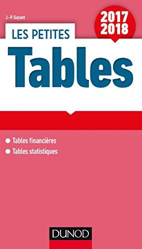 Les petites Tables 2017-2018 - Tables financières - Tables statistiques