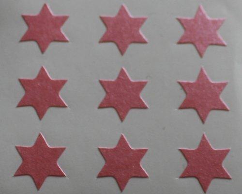 150 Etiquetas, 10 mm forma de estrella, rosas, AUTO-adhesivo pegatinas, formas Minilabel