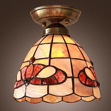 Kai rustico Lampadario da soffitto con motivo floreale, colore: rosso