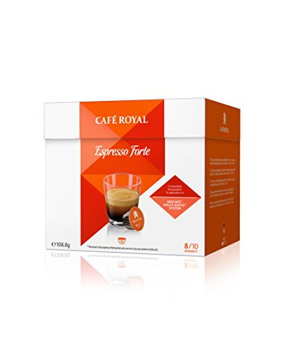 Café Royal Espresso Forte Neue Generation, 48 kompatible Kapseln für Nescafé Dolce Gusto, 3er Pack (3 x 16 Kapseln)