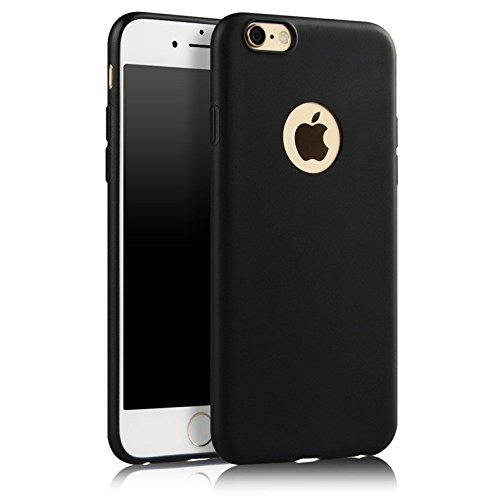 ikazen Juice Series Ultra Thin Camera Protector Soft TPU matte Case for Apple iPhone 6 6s (Black)