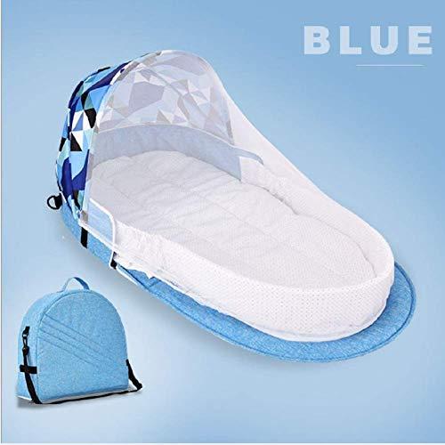 Aidudo Lit de Voyage Bébé, 3 en 1Sac à langer portable multifonction,Avec matelas/moustiquaire/Auvent,Bassinet de bébé Portable dormeur(Poupée à suspendre)