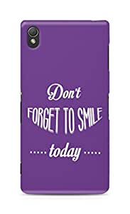 Amez Dont forget to Smile Today Back Cover For Sony Xperia Z3