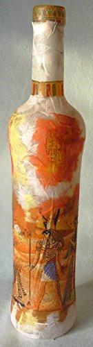 ❤ Leuchtflasche ❤ beleuchtete Flasche ❤ ÄGYPTEN ❤ natur ❤ 33cm ❤