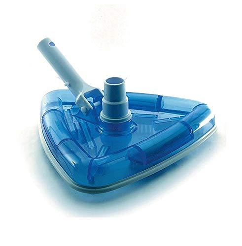 Aquaristikwelt24 Dreieck Bodenreiniger - mit Adapter für Teleskopstangen Reiniger Schwimmbad Pool Bürste Poolreinigung Poolroboter Sauger
