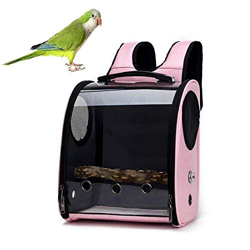 FXQIN Zaino da Viaggio per Uccelli, Borsa da Viaggio per pappagalli con Pesce persico, Zaino per Uccelli Trasparente, Visibile a...