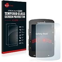Savvies Protector Pantalla para Garmin Edge 820 Cristal Templado Vidrio Templado - Dureza 9H